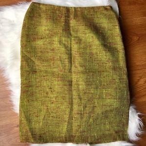 Ellen Tracy Vintage Tweed NWT Pencil Linen Skirt